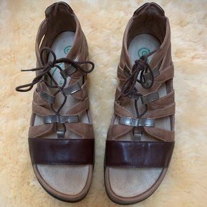 NAOT Selo Leather Lace-up Sandals-Size 9.5 -Eur 40